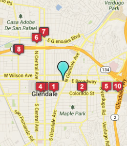 Map of Glendale, IN hotels