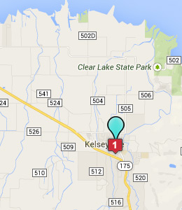 Map of Kelseyville, CA hotels