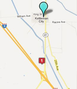 Map of Kettleman City, CA hotels