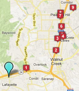 Map of Lafayette, CA hotels