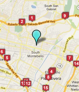 Map of Montebello, CA hotels