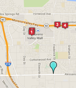 Map of Moreno Valley, CA hotels