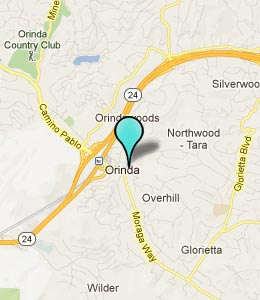 Map of Orinda, CA hotels