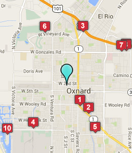Map of Oxnard, CA hotels