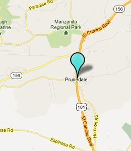 Map of Prunedale, CA hotels