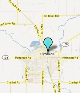 Map of Riverbank, CA hotels