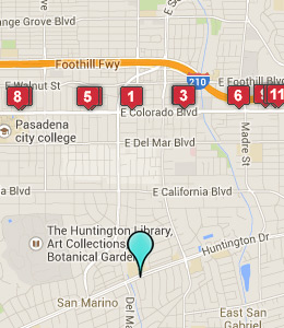 Map of San Gabriel Valley, CA hotels