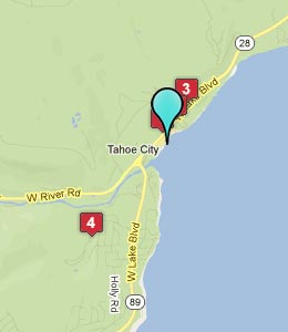 Map of Tahoe City, CA hotels