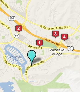 Map of Westlake Village, CA hotels