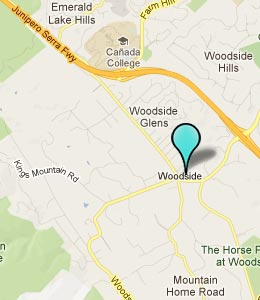 Map of Woodside, CA hotels