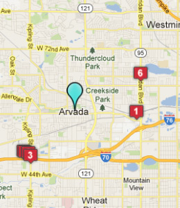 Map Of Arvada Colorado