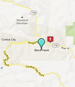 Map of Black Hawk, CO hotels