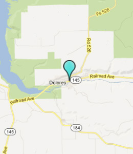 Map of Dolores, CO hotels