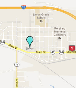 Map of Limon, CO hotels