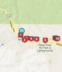 Map of Manitou Springs, CO hotels
