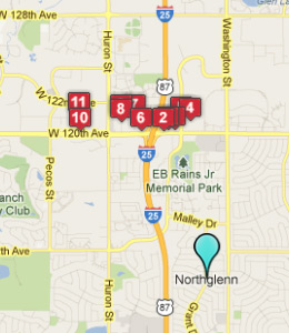 Map of Northglenn, CO hotels