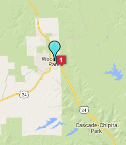 Map of Woodland Park, CO hotels