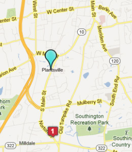 Map of Plantsville, CT hotels