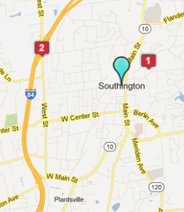 Map of Southington, CT hotels