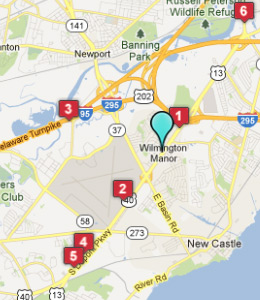 Map of Wilmington Manor, DE hotels