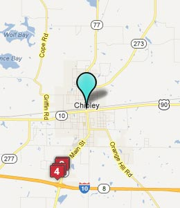 Map of Chipley, FL hotels