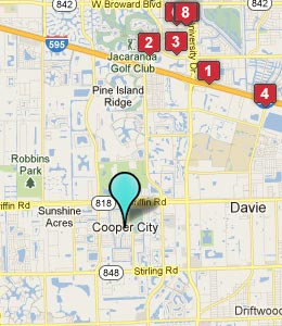 Map of Cooper City, FL hotels