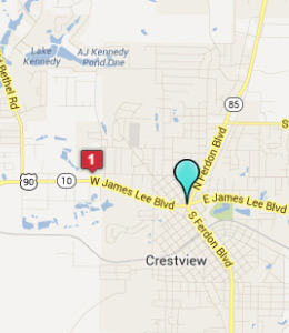 Map of Crestview, IN hotels