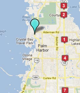 Map of Crystal Beach, FL hotels