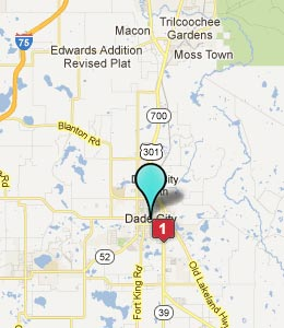 Map of Dade City, FL hotels