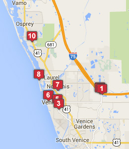 Map of Englewood, FL hotels