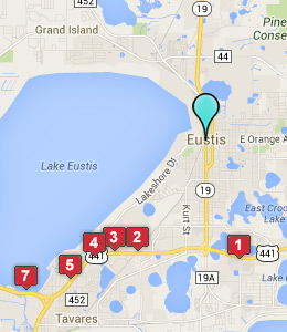 Map of Eustis, FL hotels