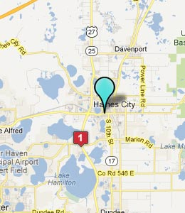 Map of Haines City, FL hotels