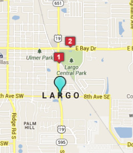 Map of Largo, IN hotels