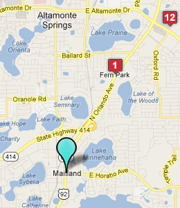 Map of Maitland, FL hotels