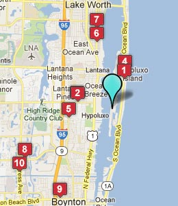 Map of Manalapan, FL hotels