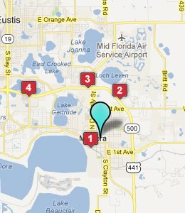 Map of Mount Dora, FL hotels