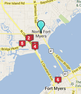 Map of North Fort Myers, IN hotels