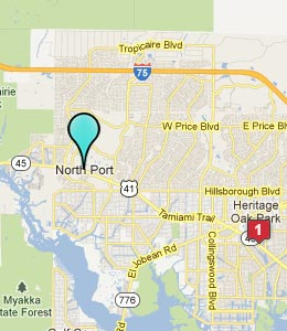 Map of North Port, FL hotels