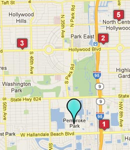 Map of Pembroke Park, FL hotels