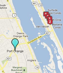 Map of Port Orange, FL hotels