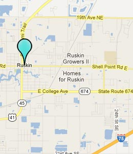 Map of Ruskin, FL hotels