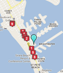 Map of St Pete Beach, IN hotels