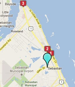 Map of Sebastian, FL hotels