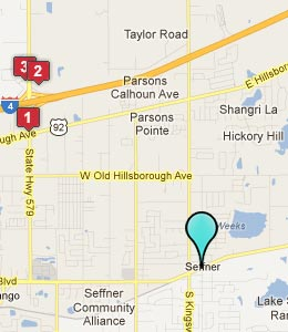 Map of Seffner, FL hotels
