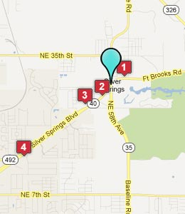 Map of Silver Springs, FL hotels