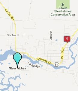 Map of Steinhatchee, FL hotels