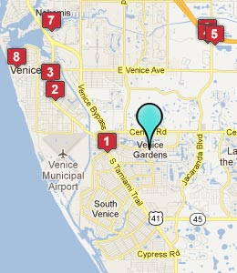 Map of Venice Gardens, FL hotels