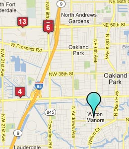 Map of Wilton Manors, FL hotels