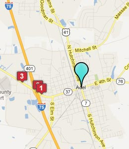Map of Adel, GA hotels
