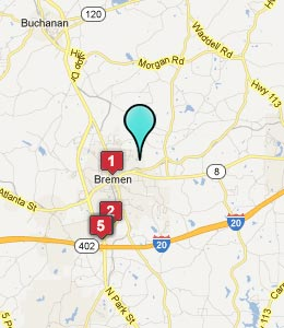Map of Bremen, GA hotels